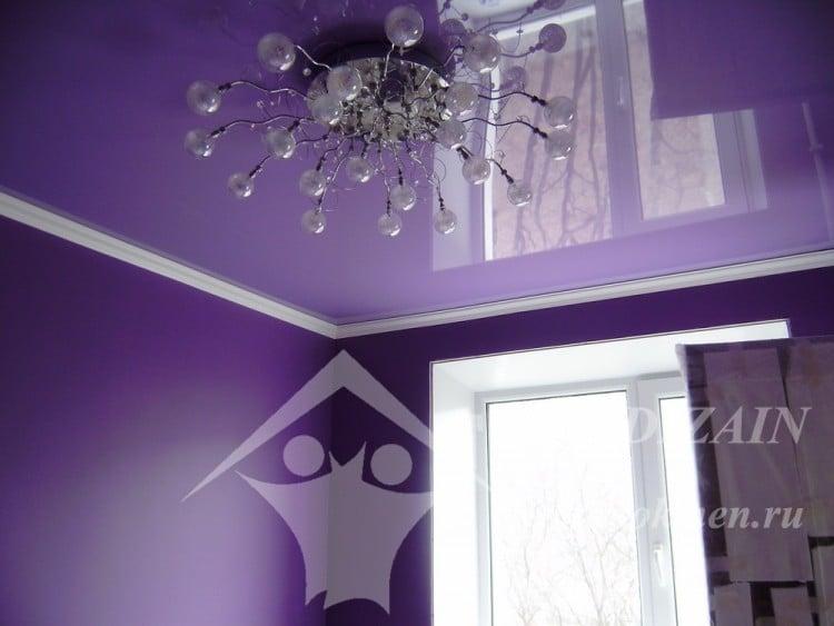 Чем покрасить натяжной потолок?