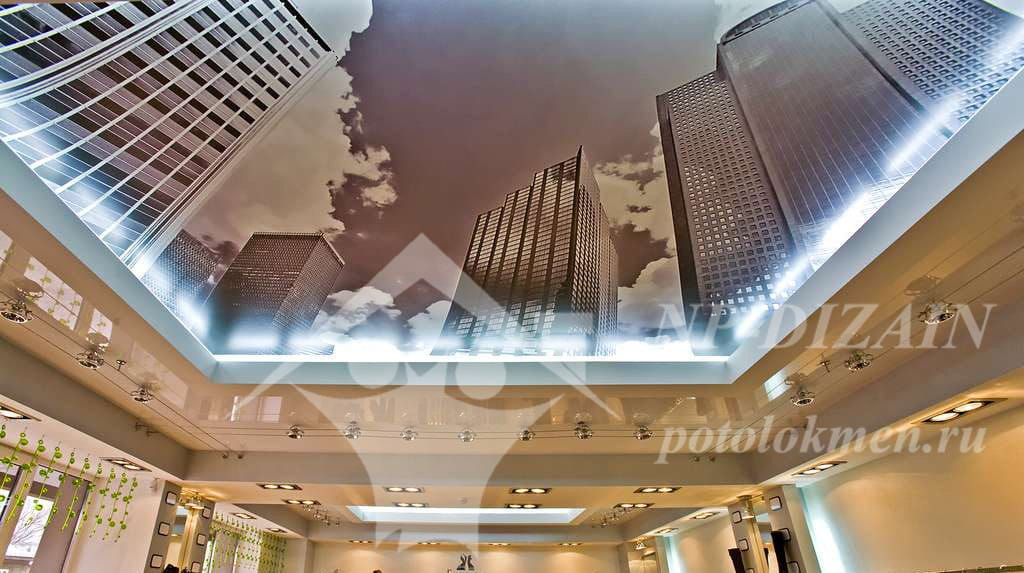 Натяжные потолки с фотопечатью в Москве